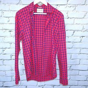 2/$40💎 Scotch & Soda Blue and Red Plaid Shirt